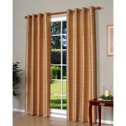 "Habitat Ambrosia Faux-Silk Curtains - 104x84"", Grommet-Top"