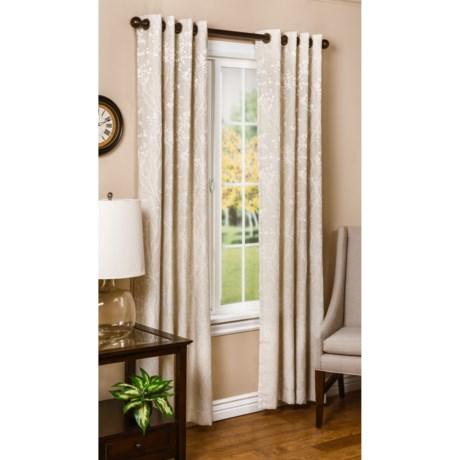"""Legacy Linen Floral Curtains - 100x84"""", Grommet-Top"""