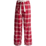 Flannel Pajama Bottoms - Satin Trim (For Women)