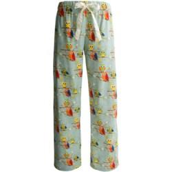 Flannel Animal Print Pajama Bottoms (For Women)