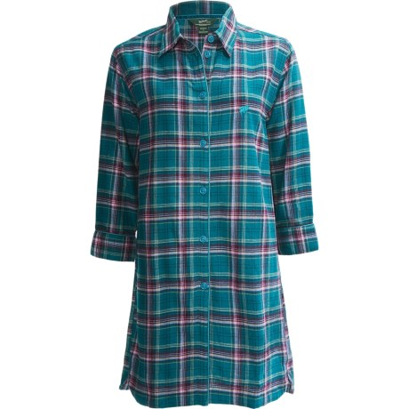 Woolrich Plaid Flannel Nightshirt - 3/4 Sleeve (For Women)