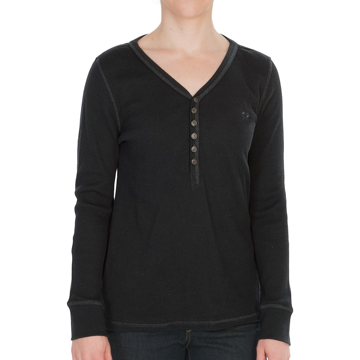 Woolrich Thermal Henley Shirt For Women 6861r