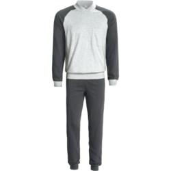 Calida Pure Cotton Mats Cuffed Pajamas - Long Sleeve (For Men)