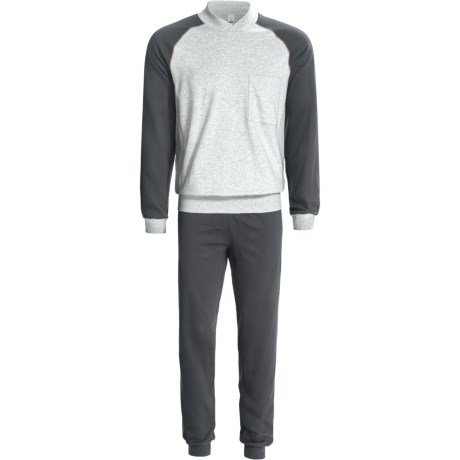 Calida Pure Cotton Mats Cuffed Pajamas - Long Sleeve (For Men)