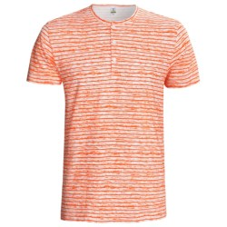 Calida Liberty Henley T-Shirt - Stretch Cotton, Short Sleeve (For Men)