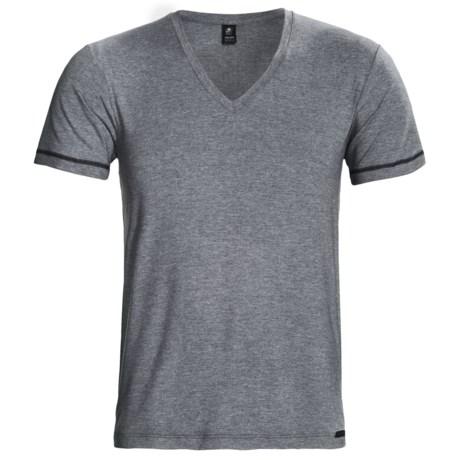 Calida Statement V-Neck T-Shirt - Stretch Micromodal®, Short Sleeve (For Men)