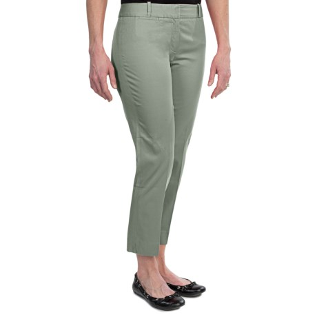 Specially made Stretch Cotton Sateen Ankle Pants (For Women)