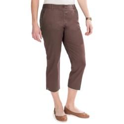 Stretch Cotton Twill Capris (For Women)