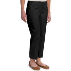 Stretch Cotton Ankle Pants (For Women)