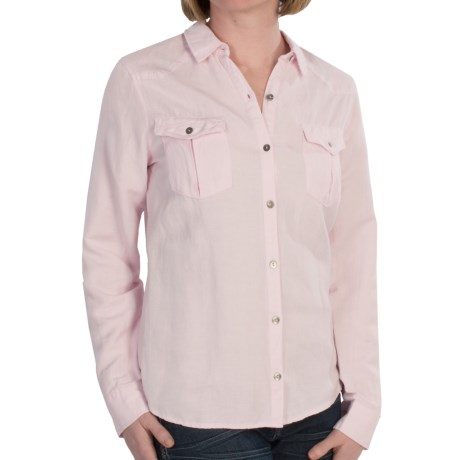 Linen-Blend Woven Shirt - Long Sleeve (For Women)