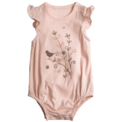 Birdie Embroidered Baby Bodysuit - Short Sleeve (For Infant Girls)