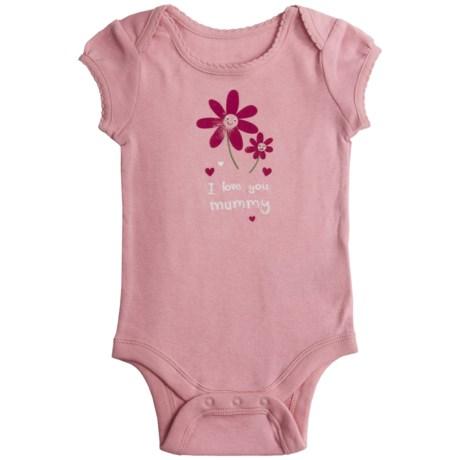 I Love Graphic Baby Bodysuit - Short Sleeve (For Infant Girls)