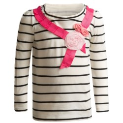 Embellished T-Shirt - Long Sleeve (For Infant and Toddler Girls)