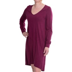 Lilla P Flame Pima-Modal Slub Dress - Long Sleeve (For Women)