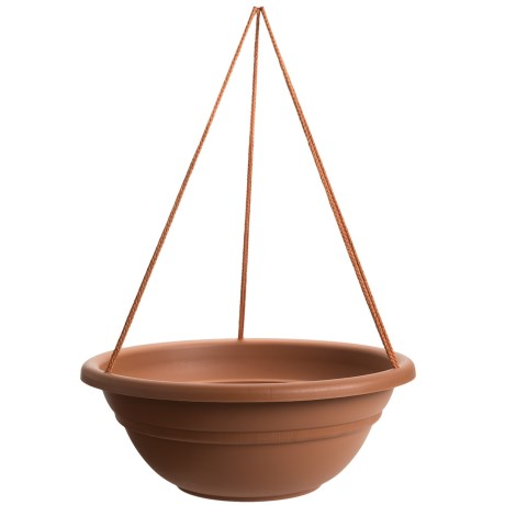 """Garden Scene Dura Cotta Milano Hanging Flower Basket - 17"""""""