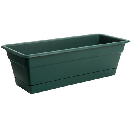 """Garden Scene Dura Cotta Window Planter Box - 18"""""""
