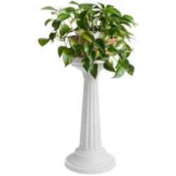 Garden Scene Grecian-Look Dura Cotta Plant Stand
