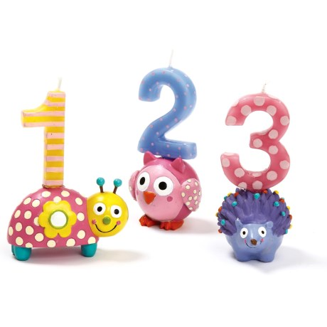Two's Company Happi by Dena Children's Birthday Candles and Holders - Set of 6