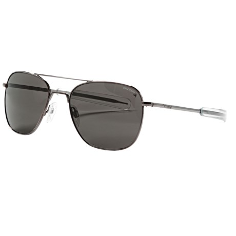 Randolph Aviator 58mm Sunglasses - Polarized, Glass Lenses