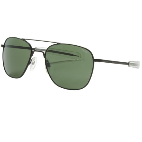 Randolph Aviator Sunglasses - 58mm Glass Lenses