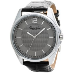 Kenneth Cole New York Textured Dial Watch - Croc-Embossed Leather Band (For Men)