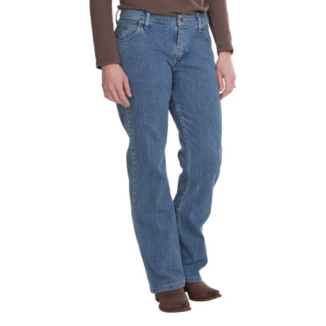 Relaxed Fit Bootcut Jeans (For Women)