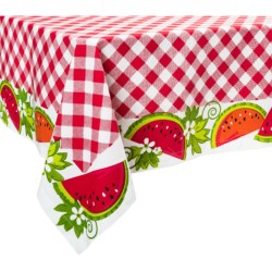 DII Watermelon Check Print Tablecloth - 60x84""