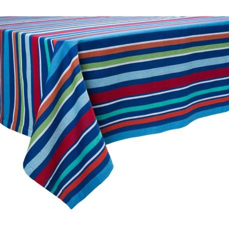 "DII Summer Fun Stripe Tablecloth - 60x84"""