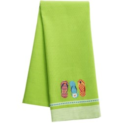 DII Embroidered Summer Fun Dish Towel