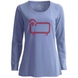 Woolrich The Wooly Scoop Neck Pajama Top - Long Sleeve (For Women)