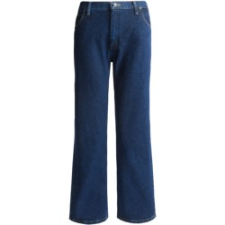 Relaxed Fit Tapered Leg Jeans (For Plus Size Women)