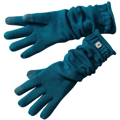SmartWool Long Ribbon Merino Wool Gloves - Touchscreen Compatible (For Women)