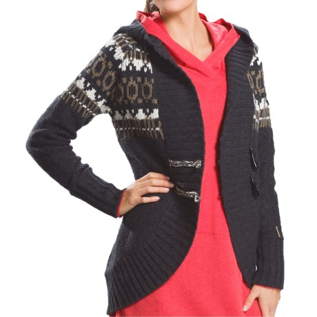 Lole Caress Hooded Cocoon Cardigan Sweater (For Women)