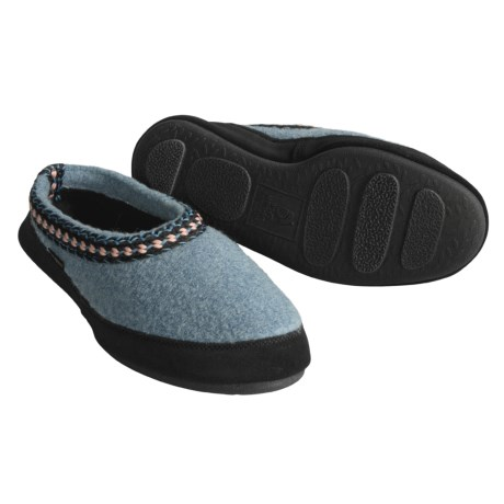 Acorn Hut Scuff Boiled Wool Slipper Shoes (For Men and Women)