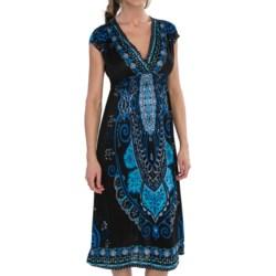 She's Cool She's Cool Surplice Neck Dress - Short Sleeve (For Women)