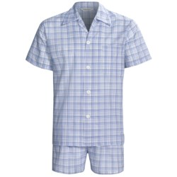 Derek Rose Lightweight Shortie Pajamas - Notch Collar, Short Sleeve (For Men)