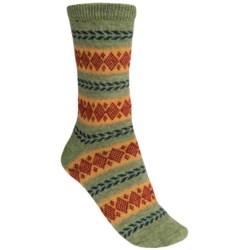 b.ella Becky Glacier Fair Isle Socks - Merino Wool, Crew (For Women)