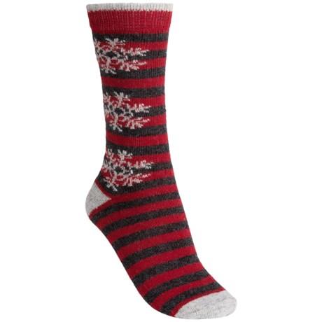 b.ella Cecilia Snowflake Crew Socks (For Women)