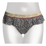 Kenneth Cole Reaction Wild Cats Flounce Hipster Bikini Bottoms (For Women)