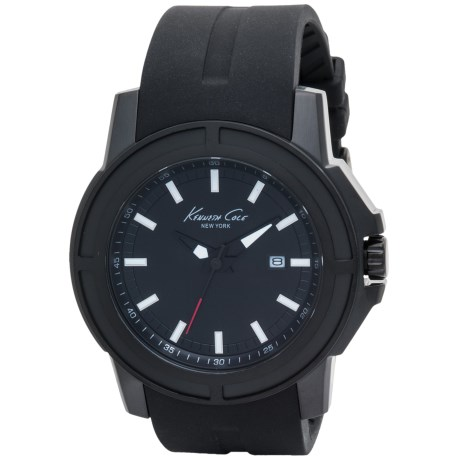 Kenneth Cole Round Analog Watch - Silicone Strap (For Men)