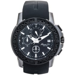 Kenneth Cole Black Ionic Chronograph Watch (For Men)