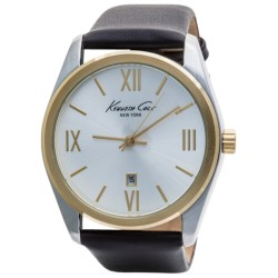 Kenneth Cole New York Classic Round Dress Watch - Leather Band (For Men)