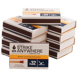 Uco Compact Strike Anywhere Matches - 10-Pack
