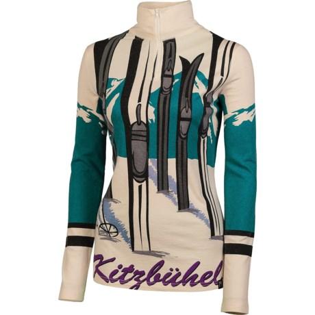 Neve Kitzbuhel Base Layer Top - Zip Neck, Long Sleeve (For Women)