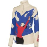 Neve Amo Neve Shirt - Silk-Merino Wool, Zip Neck, Long Sleeve (For Women)