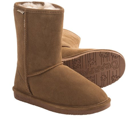 Bearpaw Emma Short Boots - Sheepskin Lined, Suede (For Women)