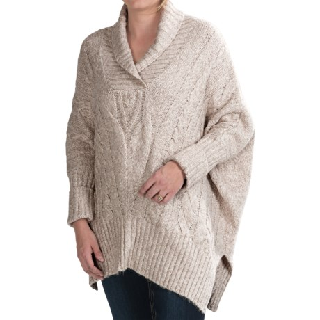 FDJ French Dressing Poncho Sweater -3/4 Sleeve (For Women)