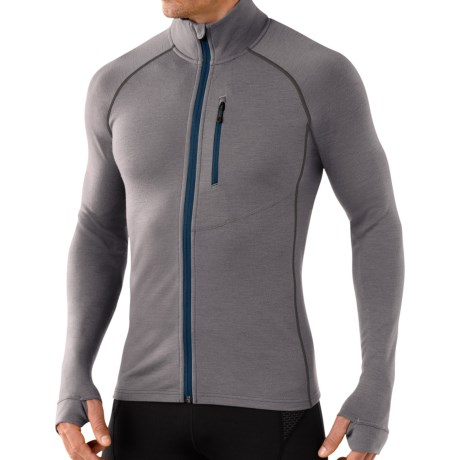 SmartWool 2013 MerinoMax Base Layer Top - Merino Wool, Full Zip, Long Sleeve (For Men)