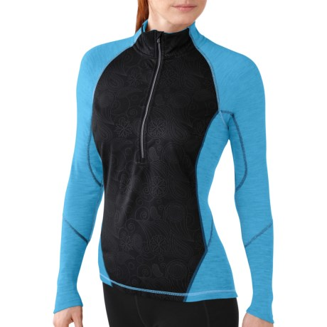 SmartWool PhD NTS Light 195 Wind Base Layer Top - UPF 35, Merino Wool, Zip Neck, Long Sleeve (For Women)