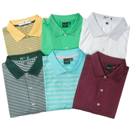 Fairway & Greene Mercerized Cotton Polo Shirts - 2-Pack, Short Sleeve (For Men)